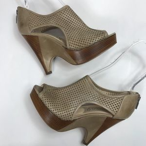 Boutique 9 Leilana Perforated Peep Toe Bootie